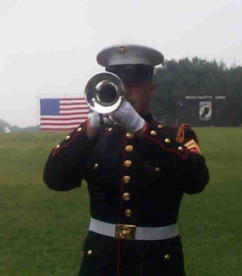 Marine Bugler at The Wall