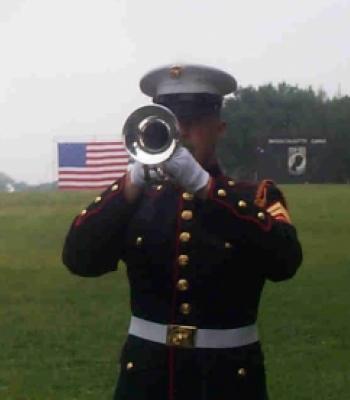 Marine Bugler at The Wall